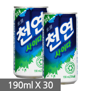 [천연사이다] 일화 천연사이다 190ml 30캔//