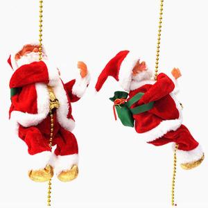 줄타는 산타인형 크리스마스트리 장식 소품 장난감 볼