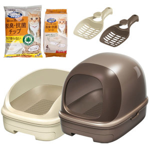 가오 냥토모 시스템 고양이 화장실/삽+모래+패드포함