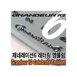 엑소스 그랜저IG 제네레이션6 레터링 엠블럼