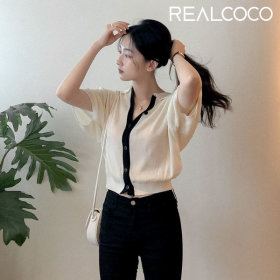 [REALCOCO] Blouse collection / shirt / solid color / chiffon / bow neck / collar /