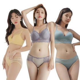 Junior girl underwear model bra panties think