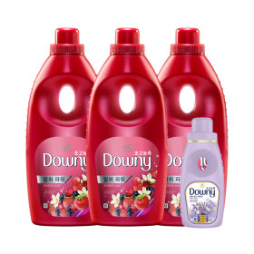 [Downy] Fabric softener / 1L x 3 bottles / floral scent / long lasting /