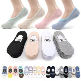 Fake socks / 10 pairs set / silicon heel grip / non-slip / for men / women /