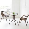 원형테이블+의자2개/부부테이블/티테이블/정원테이블