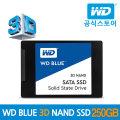 WD공식수입원/우체국택배 WD BLUE SSD 250GB 3년보증
