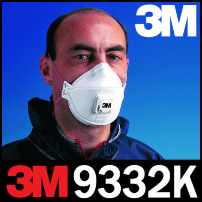 3M 9332K 초정전 미세필터 미립자차단/특급 안면부여과식마스크/FFP3/발전소등 고위험 작업장용 특급마스크 상품이미지