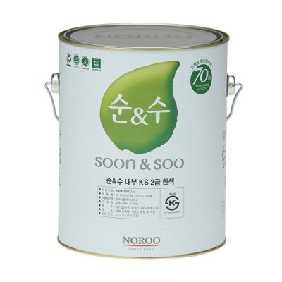 G마켓 - 순앤수 내부용 4L KS 2급 순수 친환경 수성페인트
