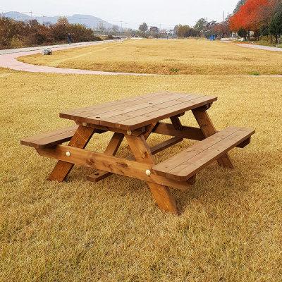 G마켓 - 원목 야외 테이블 방부목 야외용 정원 벤치 의자 세트
