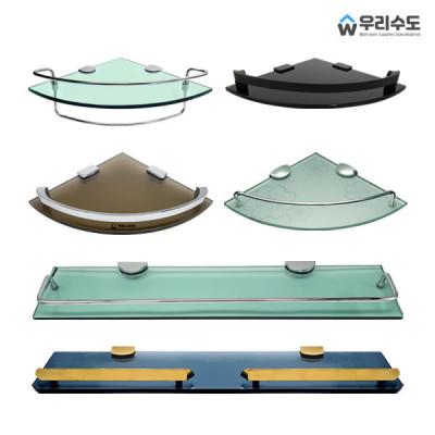 G마켓 - 우리수도 일자 수납선반 인테리어 욕실선반 유리선반