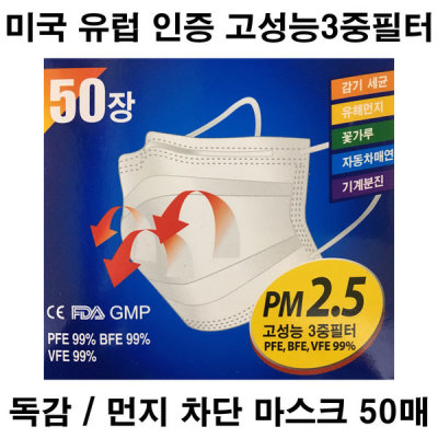 3M8210 N95인증 미세먼지마스크10매 착한가격무료배송 상품이미지