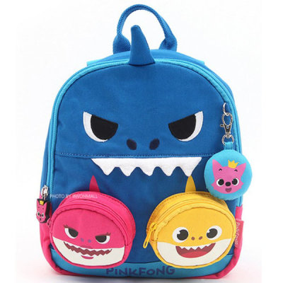 PinkFong shark family melody missing child prevention backpack(WP-B03)