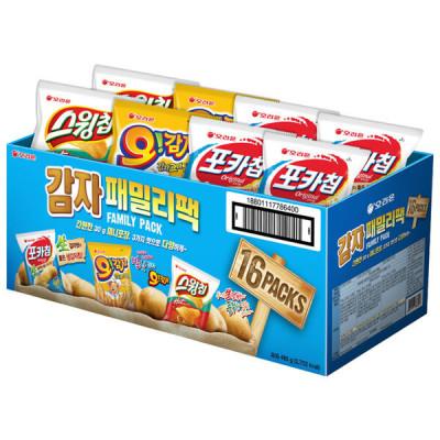 Potato snack family pack 16 bags