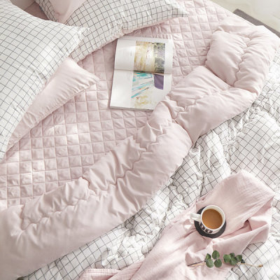 Refreshing washed comforter/Peach Skin/Hotel bedding/Pure cotton/Spring