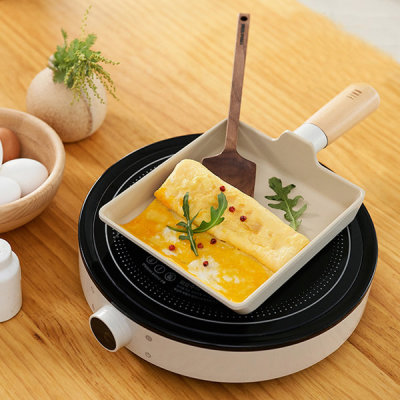 NEOFLAM Induction Usable Rolled Omelet Pan Frying Pan FIKA