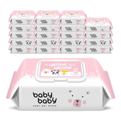 babybaby Baby Wet Wipes Twinkle 120 sheets 20 packs Cap Type