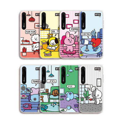 BT21 iPhone ROOMIES character graphic light up case