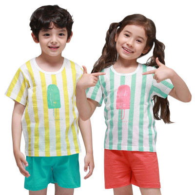 Korean/Non-Fluorescent/Long Sleeve/150TC/Kids /Children/Junior/Innerwear/House Dresses