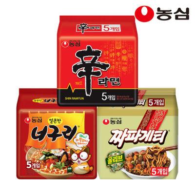 Shin Ramyun+Neoguri+Chapaghetti 15 packs