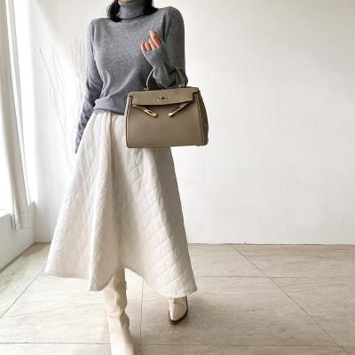 M1B/Square/Large/Long/Denim/Checked/Plaid Skirt