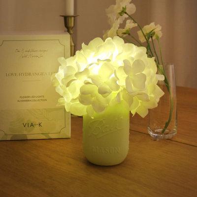 VIA K studio Monceil Hydrangea Pot LED Mood Light