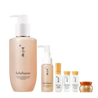 [Sulwhasoo] Gentle Cleansing Foam 200ml + Miniature 6-item Giveaway+15% Coupon
