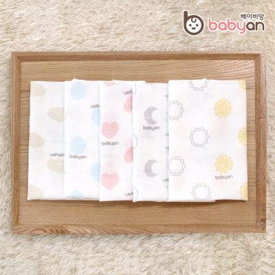 Babyan Baby Handkerchief/hankie Bib/Gauze/Printed/Bamboo/Organic/Non phosphor product-Made Korea
