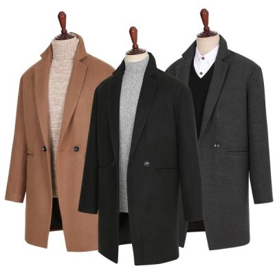Men`s coat/overfit coat/winter coat/wool coat/long coat