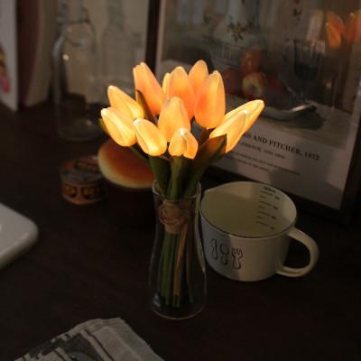 [VIA K studio]Peach Tulip Bouquet LED Mood Lamp (With Vase)