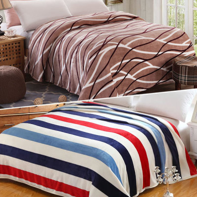 Microfiber blanket mink blanket sofa Knee blanket Winter