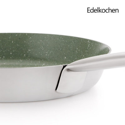 Whole 3-ply Edel Ceramica Frying Pan 24cm (Olive Green Ceramic)