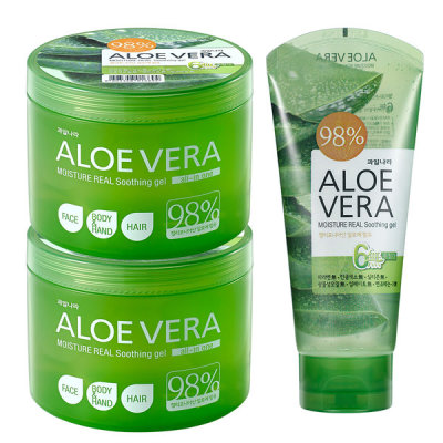Aloe Soothing Gel 2+1 / Total 1150ml Contains 98% Aloe Vera