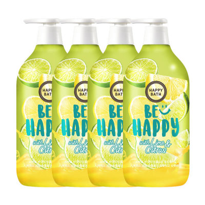 HAPPY BATH Smile Body Wash Wellness With Lime n Citrus 900g x 4pcs