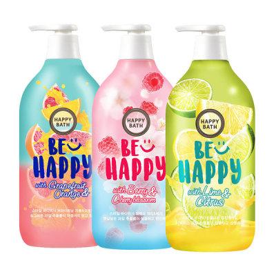 HAPPY BATH Smile Body Wash 900g 3-item Set Citrus/Cherry/Grapefruit