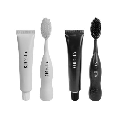 VT X BTS THINK YOUR TEETH White Toothbrush Set