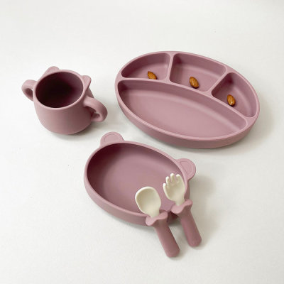 [BLUEMAMA]Coupon/All in one Baby Plate 4 Set