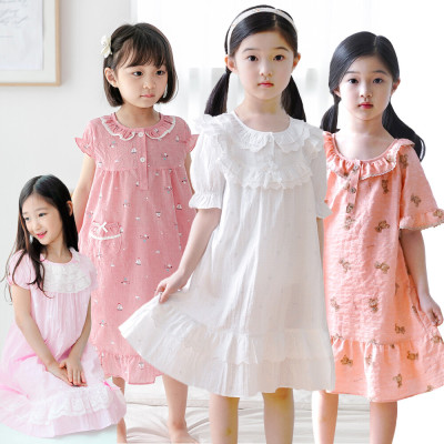 Princess pajamas girls dress children infant loungewear baby pajamas