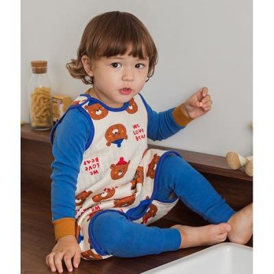 Winter Bear Sleep Vest Baby Winter Anti-stomachache Pajama