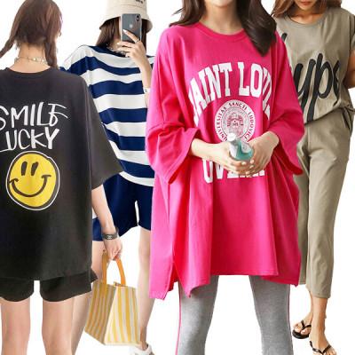 Women s T-Shirt/Short-Sleeve Tee/Plus Size Women s Attire/Long Tee