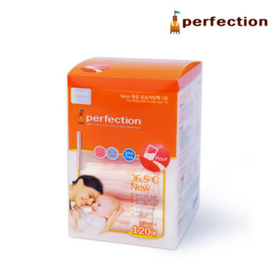Perfection Temperature Sensor Breastmilk StorageBags 120 pieces