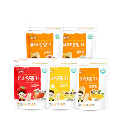 Pure-eat Organic pop rice rice crackers baby snacks 44 kinds 10+2