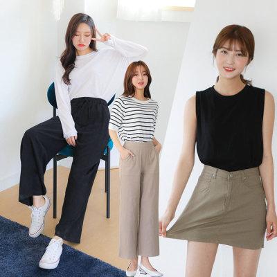 Pretty spring banded waist pants ~3XL women`s jeans/slacks/plus size