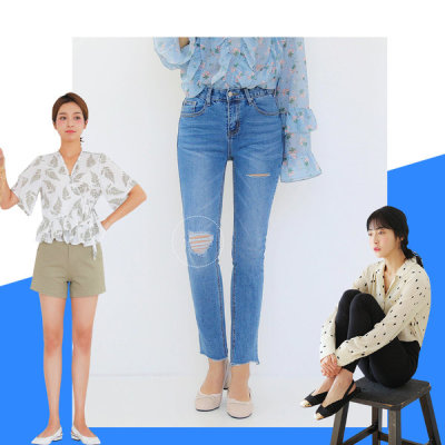 Pretty spring new arrivals straight jeans up to 3XL women`s banding skinny jeans slacks