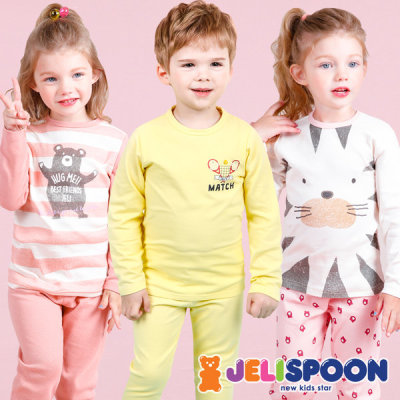 Kids innerwear/kids clothing/indoor top and bottom set/thermal underwear/long sleeve innerwear