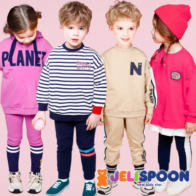 Kids top and bottom set/Kids Clothing/T-shirts/Pants/School look/Girls` top and bottom set