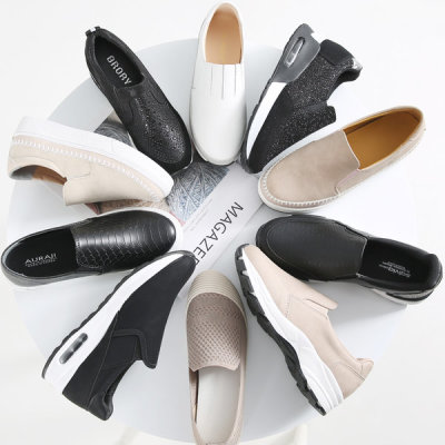 New arrivals slip-on flat shoes women elevator shoes sneakers