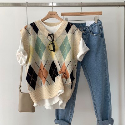 APRICOT fall loose fit cardigan for women/long/Short-sleeve/Knit