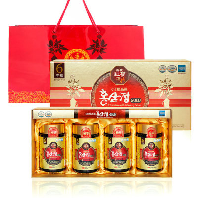 6-year-old Korean Red Ginseng Extract Gold 250g X 4 bottles 1000g total/Red Ginseng New year gift
