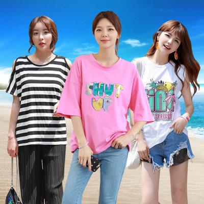 Women s T-Shirt/Boxy Tee/Loose Fit /Long Shirts/Plus Size