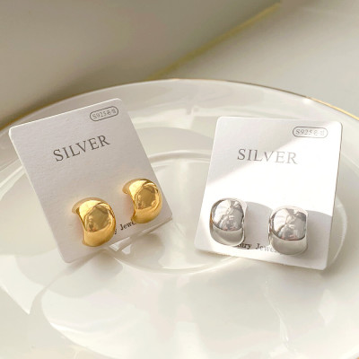 No.1 in sales spring feminine new arrivals silver pin earrings drop ring leopard patterned set